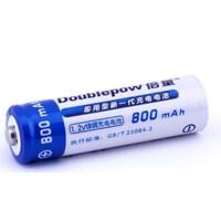 Satuan Rechargeable Battery AA 800mAh Baterai Isi Ulang Cas Doublepow