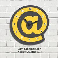 Jam Dinding Hiasan Pajangan Dekorasi Wall Decor Yellow Aesthetic 1