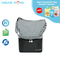 Thermal Bag / Cooler Bag Natural Moms - Tote Houndstooth
