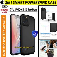 iPhone 12 Pro Max Powerbank Power Bank Soft Case Casing Cover 6000mAh - Hitam