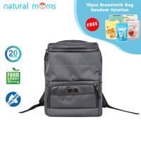 Natural Moms Max Black Backpack