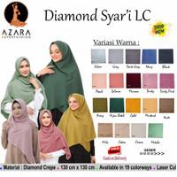 Jilbab Segi Empat Polos Syari Diamond LC by Azara Scarf - Hijab Ori