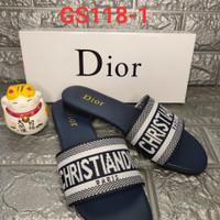 Sandal christian dior GS118-1 black & navy size 36-40