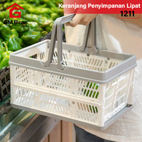 GM Bear Keranjang Penyimpanan Lipat Putih 1211-Folding Storage Basket