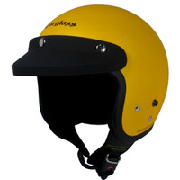 Cargloss Retro Helm Half Face - Excotic Yellow Doff