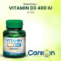 Nutrimax Vitamin D3 400 IU 120 Vitamin Kesehatan Tulang Gigi Imunitas