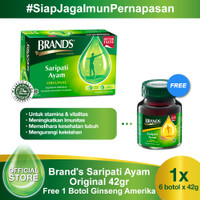 Brand's Saripati Ayam Original 42 Gr Free 1 Botol Brand's Ginseng