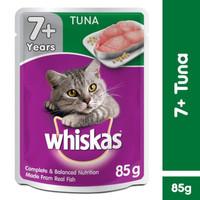Makanan Kucing Basah Whiskas Pouch 7+ Tuna 85gr