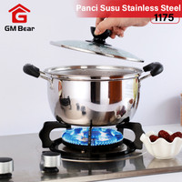 GM Bear Panci Sop Stainless Steel 1175-Stainless Steel Soup Pot 18cm