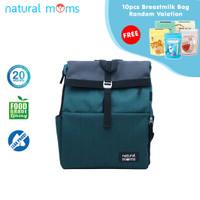 Thermal Bag / Cooler Bag Natural Moms - Backpack Flip Green