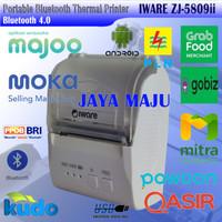 MINI THERMAL PRINTER BLUETOOTH 58MM IWARE ZJ-5809ii - CETAK STRUK