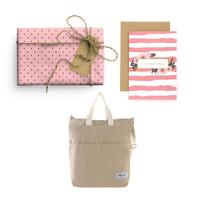 Paket Hadiah Valentine Totebag Bhumi & Gift Set Harvest - Mini Dots