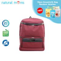 Thermal Bag / Cooler Bag Natural Moms - Backpack Max Maroon