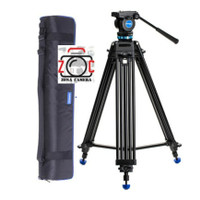 Benro KH25P Video Tripod Head Kit Stand Kamera Handycam KH25 Kaki Cam
