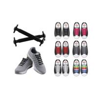 Tali Sepatu Silikon Elastis Shoe Laces Karet Shoelace Silicone Isi 16