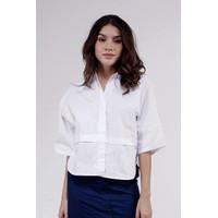 Kemeja Wanita / Mavis White Shirt 22504D5WT - Ninety Degrees