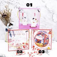 BOX MIKA TRANSPARAN IMLEK/ KOTAK HANTARAN CNY 14x14