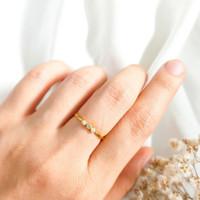 Cincin wanita Hati permata untuk Hadiah Teman Ring Gold shop Emas asli