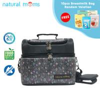 Thermal Bag / Cooler Bag Natural Moms - Sling Black Phoenix