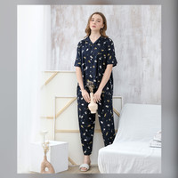 Alice Set in Tortoiseshell - Sleepwear / Piyama Baju Tidur Rayon RAHA