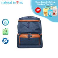 Thermal Bag / Cooler Bag Natural Moms - Backpack Max Blue