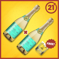 Bellissimo Sparkling Moscato 750 ml 2 PCS + FREE Shooter Bottle Avenue