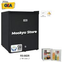 GEA Kulkas Portable Mini Bar RS-06DR | RS06DR | Black & Silver 46 L