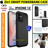 iPhone 12 12 Pro Powerbank Power Bank Soft Case Casing Cover 5000mAh - Hitam