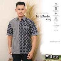 fillea Lurik rondon kemeja batik pria pendek furing solo alusan murah