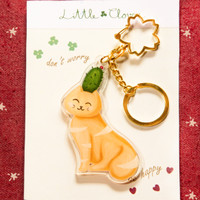 Acrylic Key Chain Little Clover Mrs. Cacpuss / Gantungan Kunci