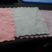 Kain Lap Anti Minyak Coral Fleece 16x27 25x25 Lap Piring Microfiber