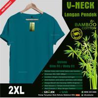 Kaos Polos Katun Bambu (Cotton Bamboo T-Shirt) V Neck XXL