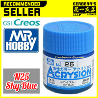 N25 Sky Blue Acrysion Water Based Acrylic Paint Mr Hobby Original