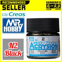 N2 Black Acrysion Water Based Acrylic Paint Mr Hobby Original