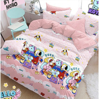 Bedcover Set Jaxine Sprei Katun Motif BT21 Sweet Dream Size Single