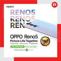 Oppo Reno 5 8/128 GB NFC Garansi Resmi