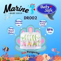 Baby safe DR002 Drying Rack With Cover Rak botol rak pengering botol