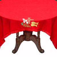 Taplak Meja Altar meja Tamu Makan Warna Katun Bordir Uk.200cm x 150cm