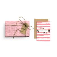 Paket Kertas Kado & Kartu Valentine Harvest Gift Set - Vintage Dots