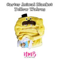 Selimut Topi Bayi Karakter - Carter Animal Blanket Baby