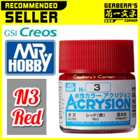 N3 Red Acrysion Water Based Acrylic Paint Mr Hobby Original