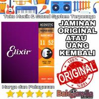Senar Gitar Elixir Acoustic Phosphor bronze 16027 size 11 1 SET Ori