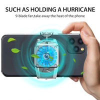 Smartphone Cooling Fan Kipas Pendingin HP Game Cooler Radiator Bracket