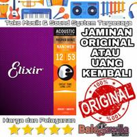 Senar Gitar Elixir Acoustic Phosphor bronze 16052 size 12 1 SET Ori