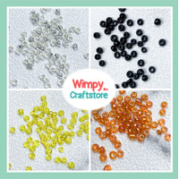 Manik Pasir Bulat Bahan Aksesoris Payet Gelang Kalung Beads