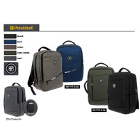 TAS RANSEL LAPTOP PRESIDENT WATERPROOF CK717 - Cream