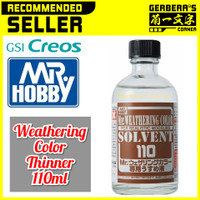 WCT101 Weathering Color Thinner 110ml Panel Accent Thinner Mr. Hobby