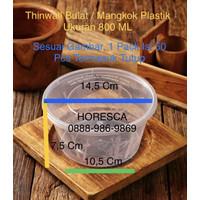 Thinwall Bulat - Mangkok Plastik Size 800 ML