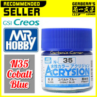 N35 Cobalt Blue Acrysion Water Based Acrylic Paint Mr Hobby Original