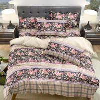 Bedcover Set Jaxine Sprei Modern Katun Motif Rose Flower Size Double